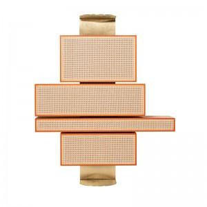 estantería NYNY Unit GTV Thonet Vienna lacada naranja