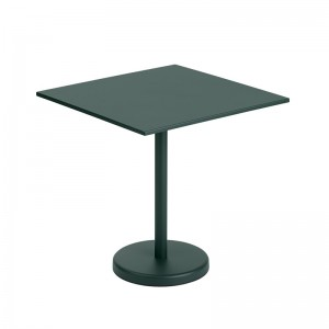 Mesa Linear Steel Café Table 70x70 de Muuto en Moises Showroom