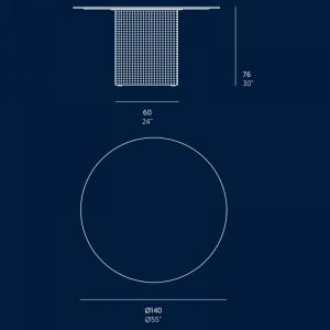 medidas mesa alta Solanas diámetro 140 cm