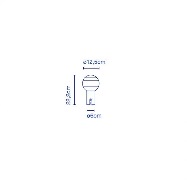 medidas lámpara Dipping portable Marset