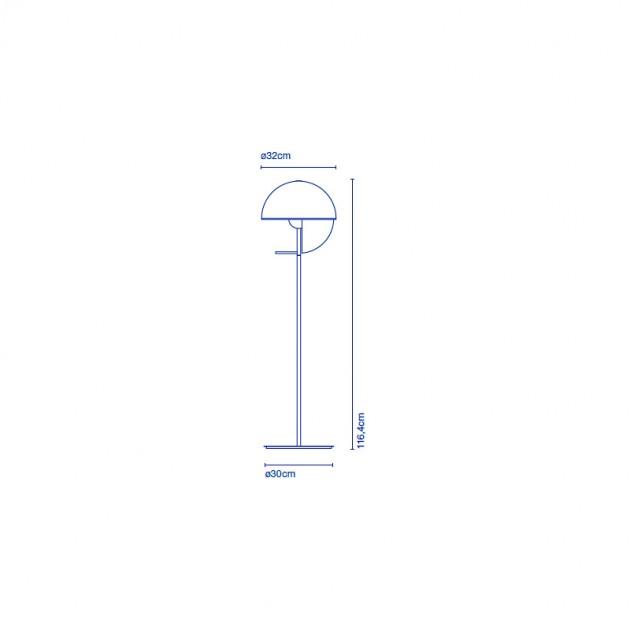 medidas lámpara de pie Theia Marset