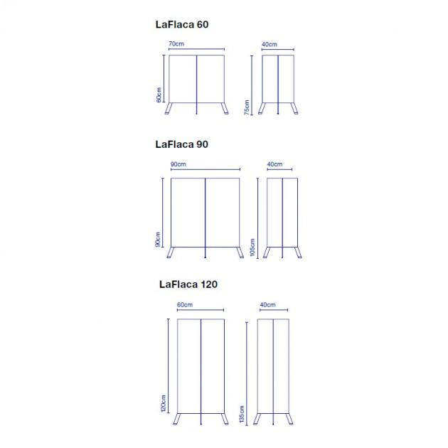 medidas lámpara exterior LaFlaca Marset