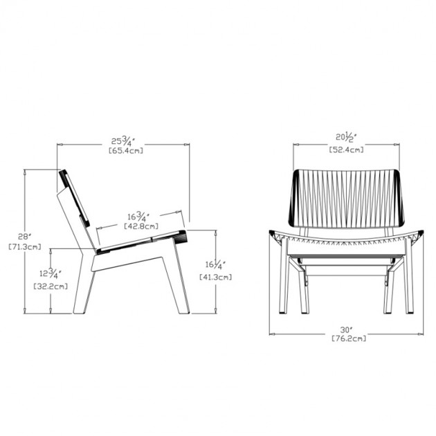 medidas butaca de exterior Lago Loll designs
