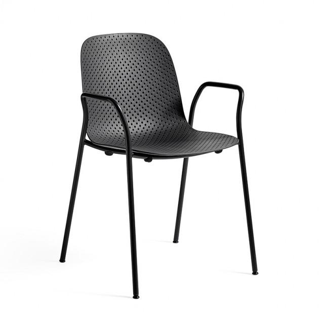 Silla 13Eighty armchair HAY negra