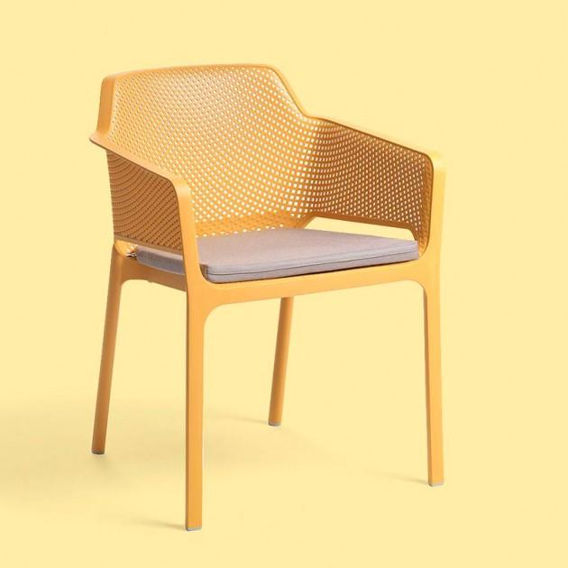 silla Net de exterior con cojín Nardi