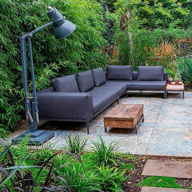 Lámpara Original 1227 Giant Outdoor Floor ambientada Anglepoise slate grey