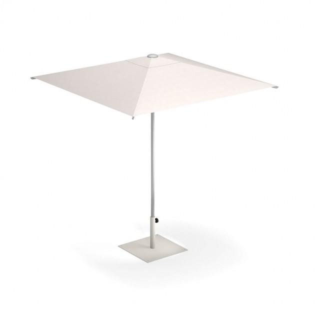 parasol Shade 2x2 Emu base cuadrada Aluminio-blanca