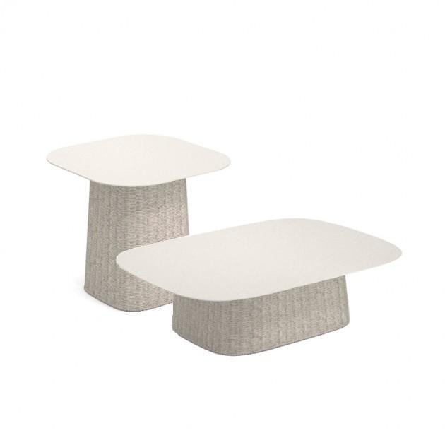 mesas bajas Carousel Emu blanco y marfil