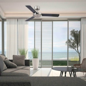 ambiente ventilador Mini Mallorca Faro Barcelona níquel