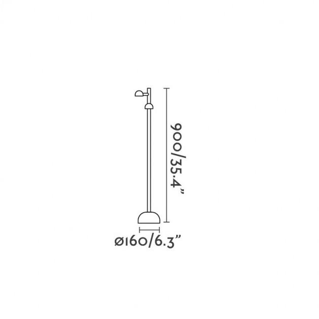 medidas Faro Barcelona lámpara de pie Brot alto 90
