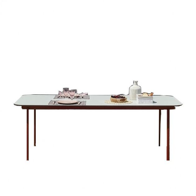 mesa comedor Anthea Indecasa rosa/rojo