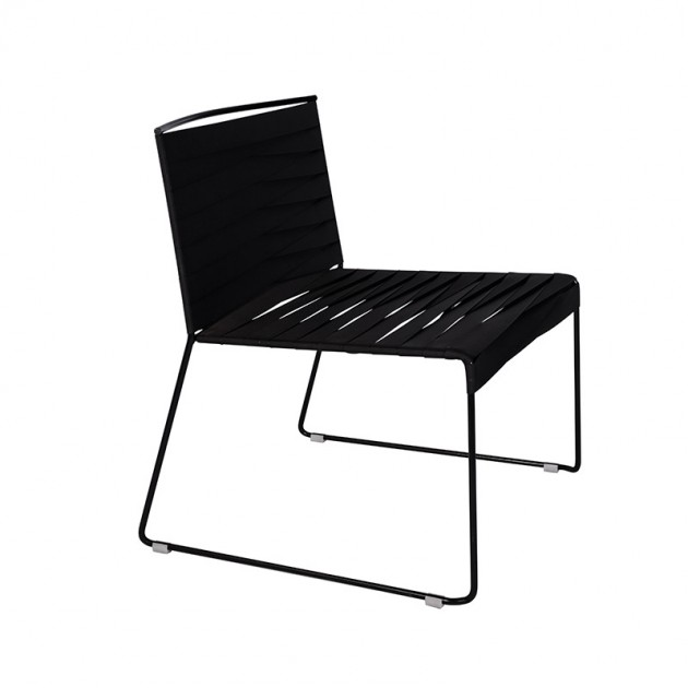 Indecasa silla lounge Espiga negro