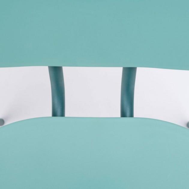 detalle asiento silla Hari polipropileno Ondarreta azul Cantábrico