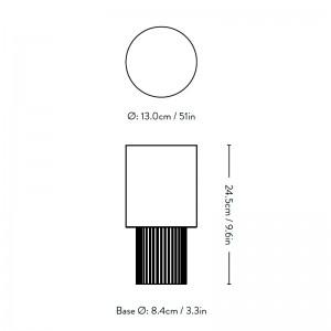 Medidas Lámpara portátil Manhattan SC52 de And Tradition en Moises Showroom