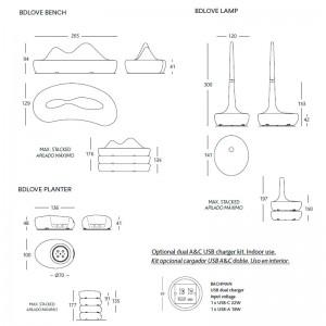 medidas y accesorio USB BD Love Eco BD Barcelona