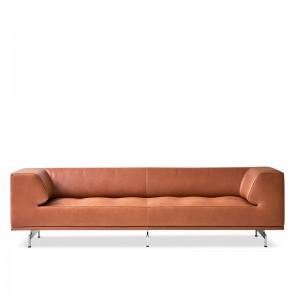 Fredericia sofá Delphi piel cognac largo 205 cm