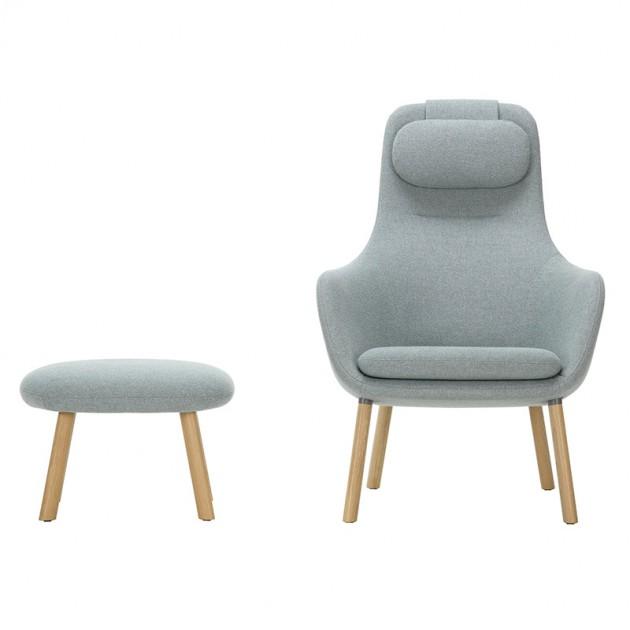 Vitra sillón Hal lounge chair & Ottoman roble natural