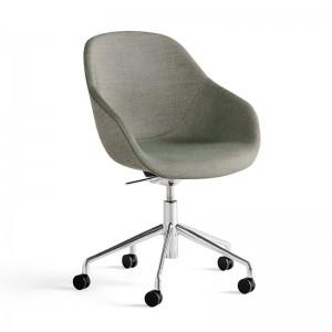 Silla con ruedas About a Chair 155 Tapicería Atlas 931