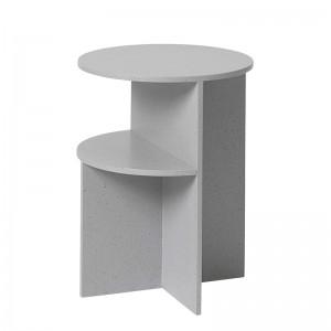 Halves Side Table Light Grey de Muuto en Moises Showroom