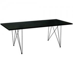 Mesa Tavolo XZ3 rectangular negra patas negras