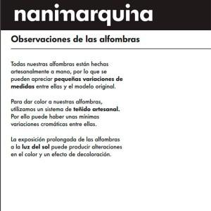 fabricación artesana Alfombra Earth Nanimarquina