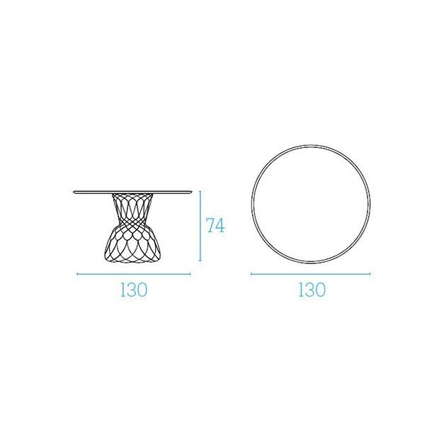 medidas mesa Re-Trouvè diámetro 130 Emu