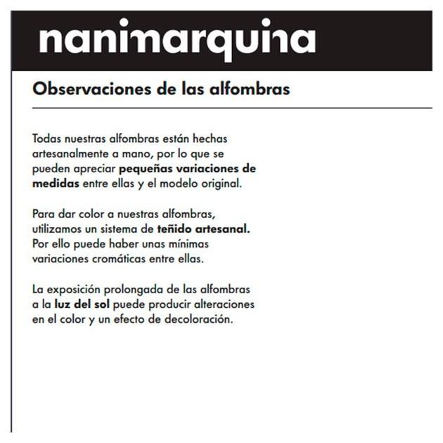 Garantía artesanal Alfombra Roses gris Nanimarquina