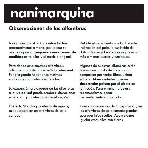 Alfombra Limbo Nanimarquina información
