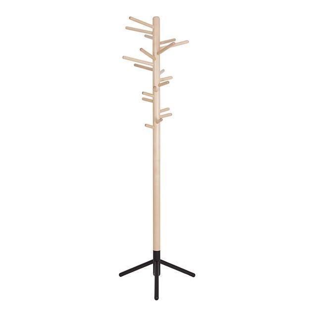 Perchero Clothes tree 160 abedul pie lacado negro de Artek